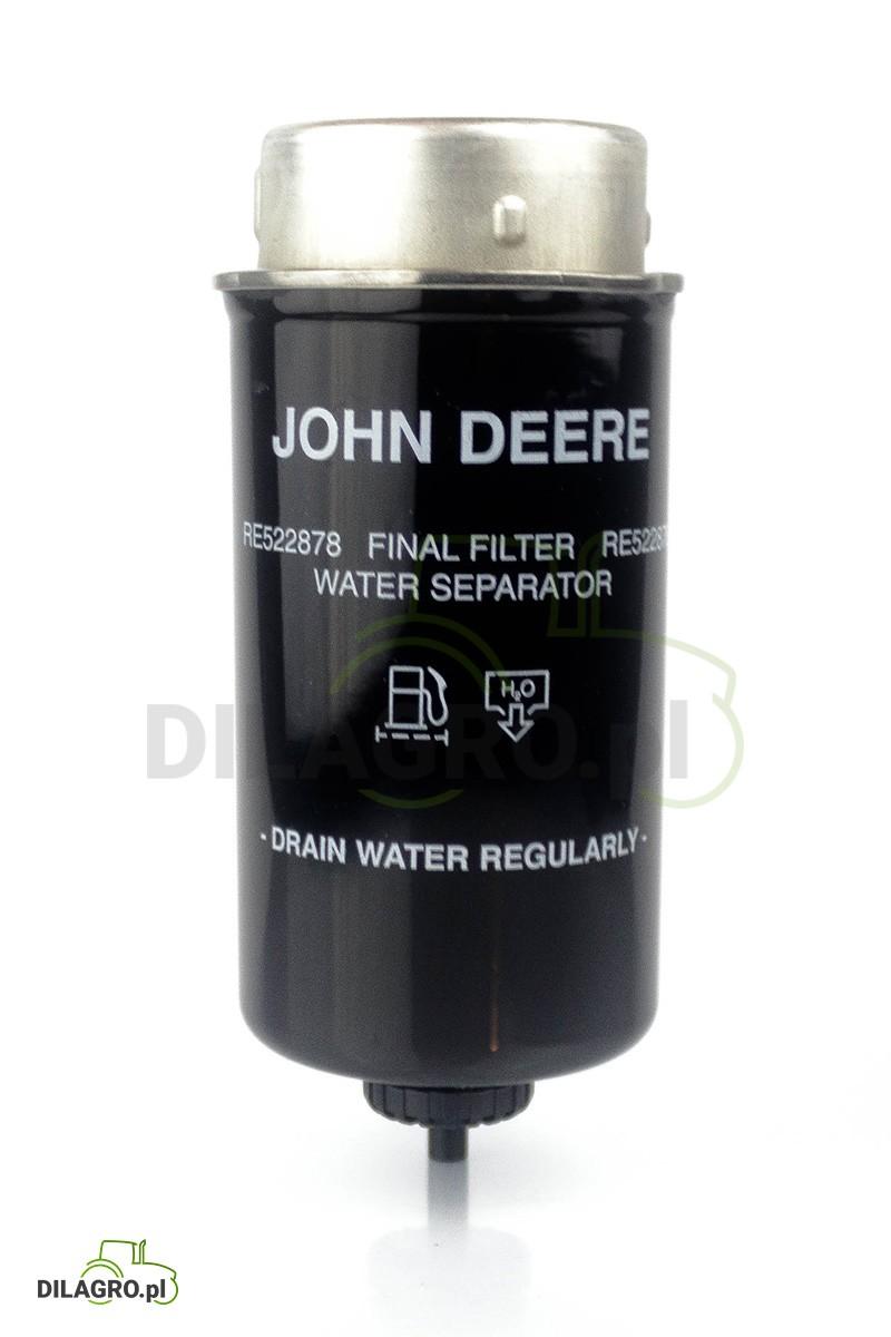 Filtr paliwa John Deere RE522878 - RE509032 - RE541925 - P551422, WK8145, BF7786, VPD6116, RE509032, RE522878, SN70273